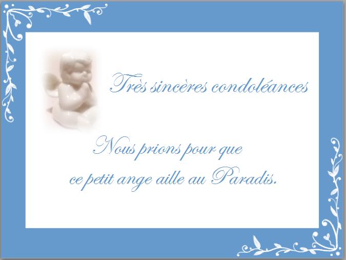 Mot de condoléances court - Modèle de lettre
