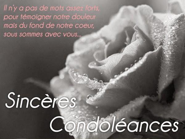 Souvent Mot pour condoléances pour ami - Modèle de lettre TW94