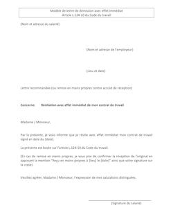 Lettre De Demission Remise En Main Propre Cdd Code Promo Petsonic
