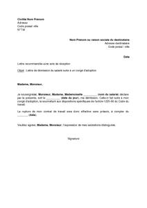 Lettre De Demission Sans Preavis Remise En Main Propre Pdf Amazone