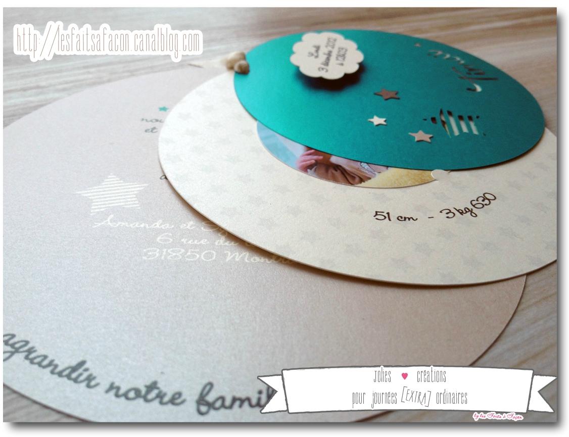 Super Faire part naissance mer - Modèle de lettre WX77