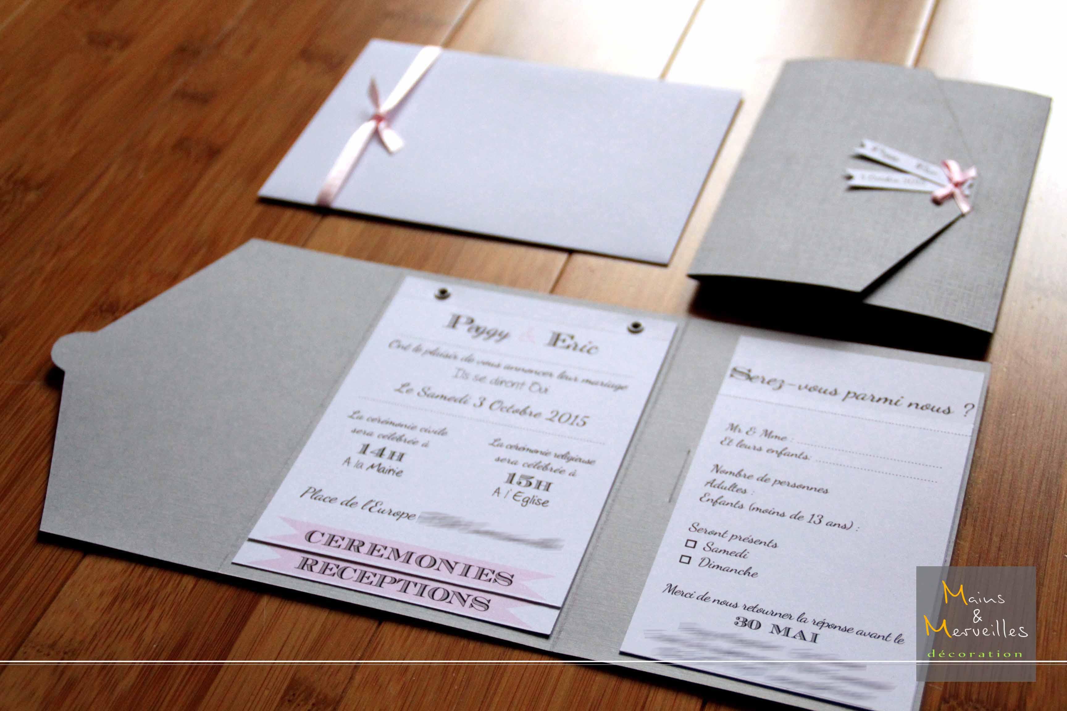 faire part mariage gris et blanc mod le de lettre. Black Bedroom Furniture Sets. Home Design Ideas
