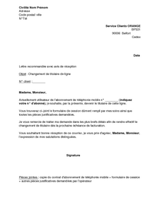 Mod le lettre d dite location mod le de lettre - Resiliation contrat location meuble ...