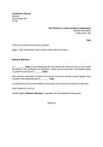 Lettre de preavis d un logement - Modèle de lettre
