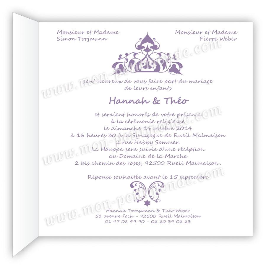Top Modele carte invitation mariage - Modèle de lettre FI78