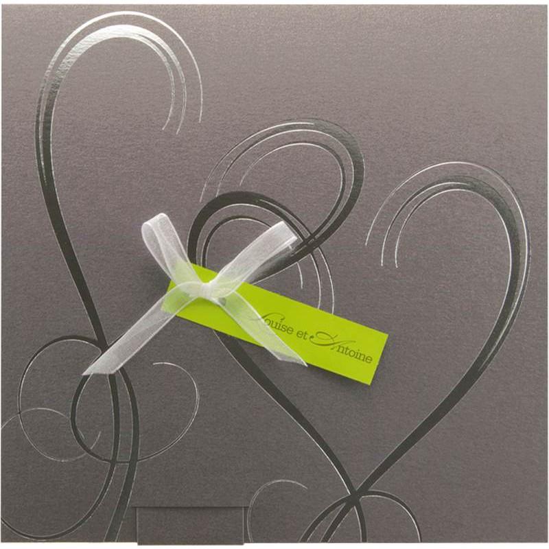 Préférence Faire part mariage blanc et vert - Modèle de lettre WR59