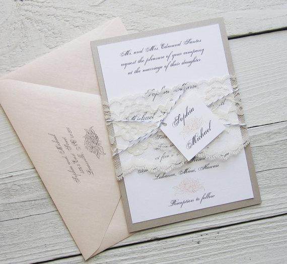 Bien connu Faire part mariage vintage romantique - Modèle de lettre FU16
