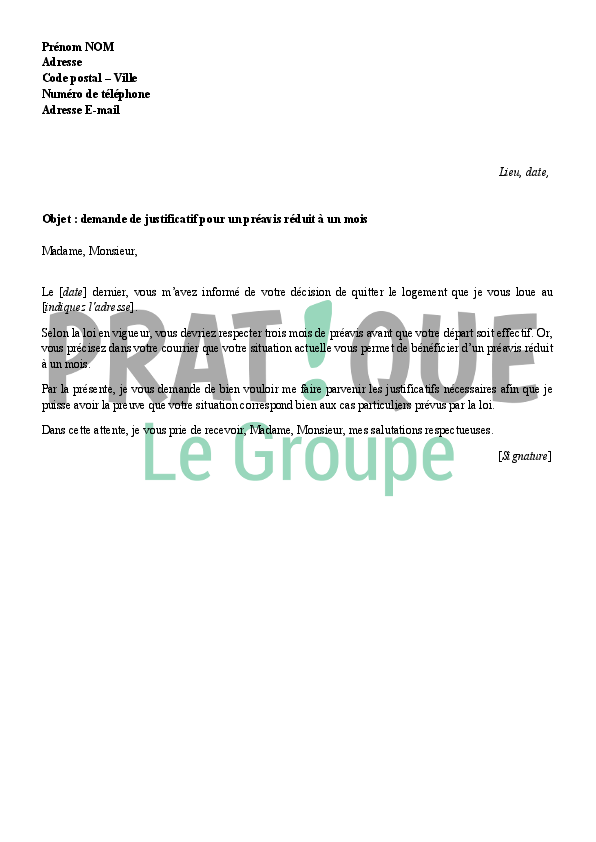 Modele Lettre Quitter Appartement