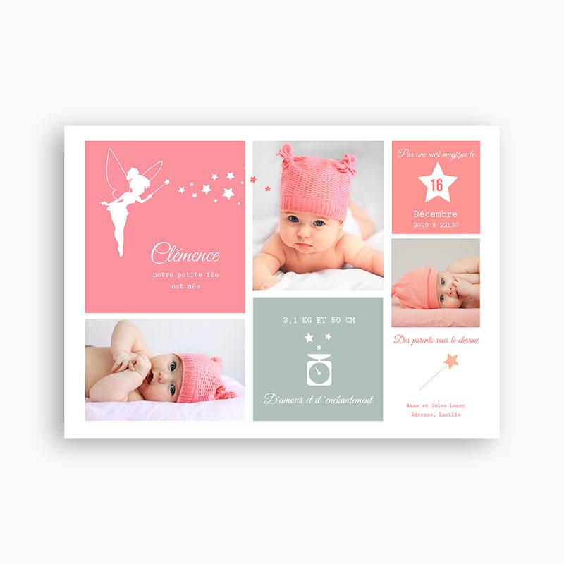 Extrem Faire part bébé fille - Modèle de lettre WH75