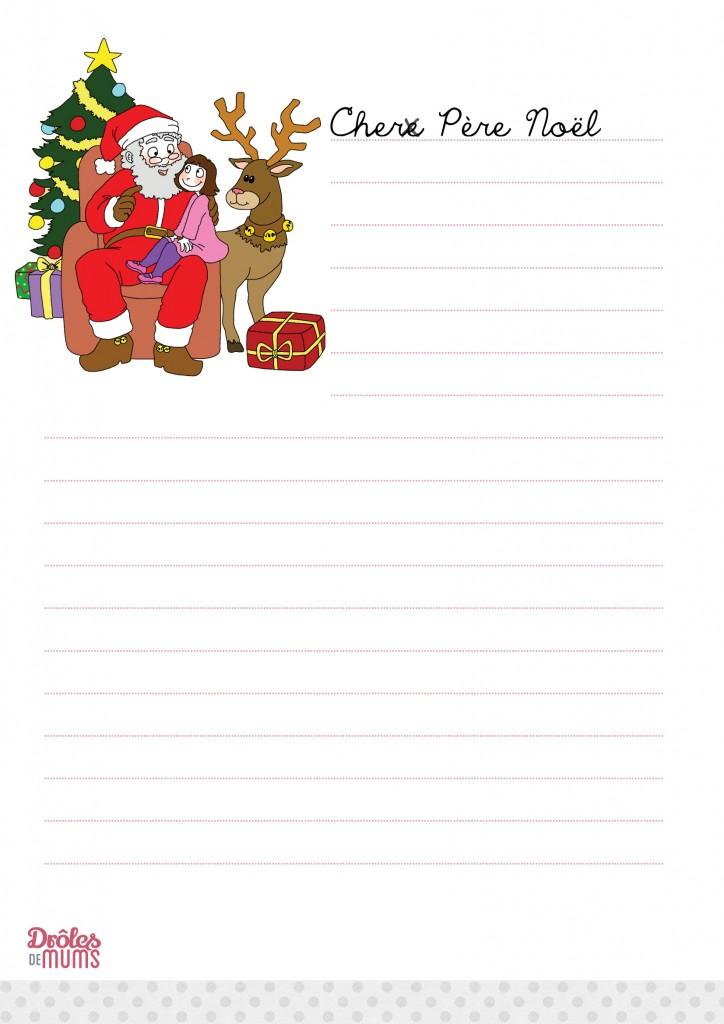 Bien connu Liste au père noel à imprimer - Modèle de lettre GU85