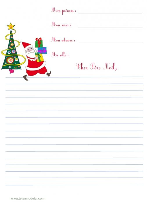 Je veux trouver un bon livre pour enfant parlant du père noel pas cher ICI  Modele de lettre pour le pere noel gratuit a imprimer