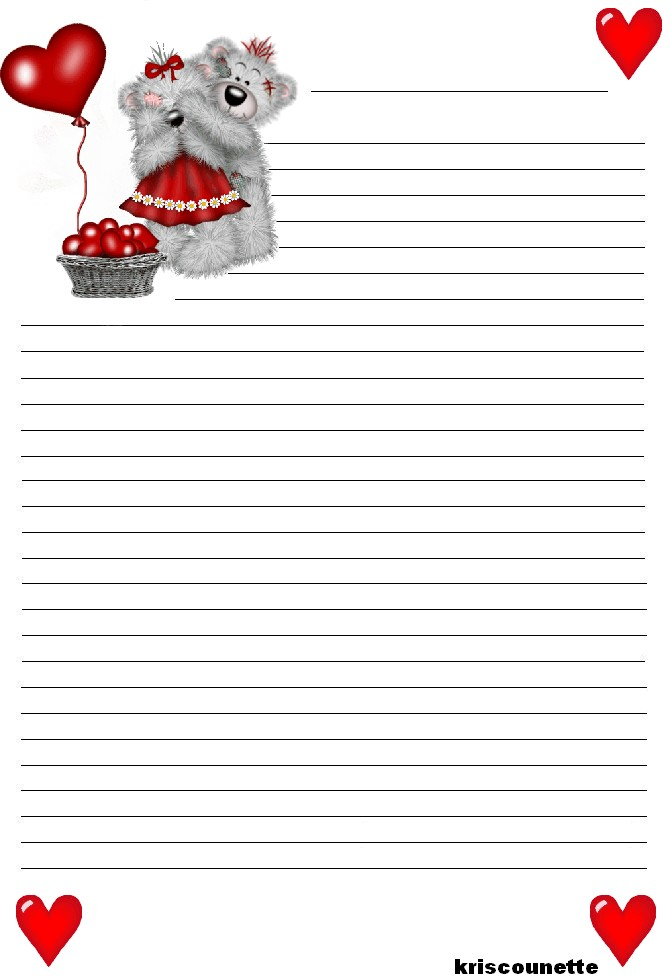 papier lettre d amour