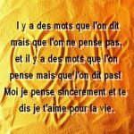Texte d amour