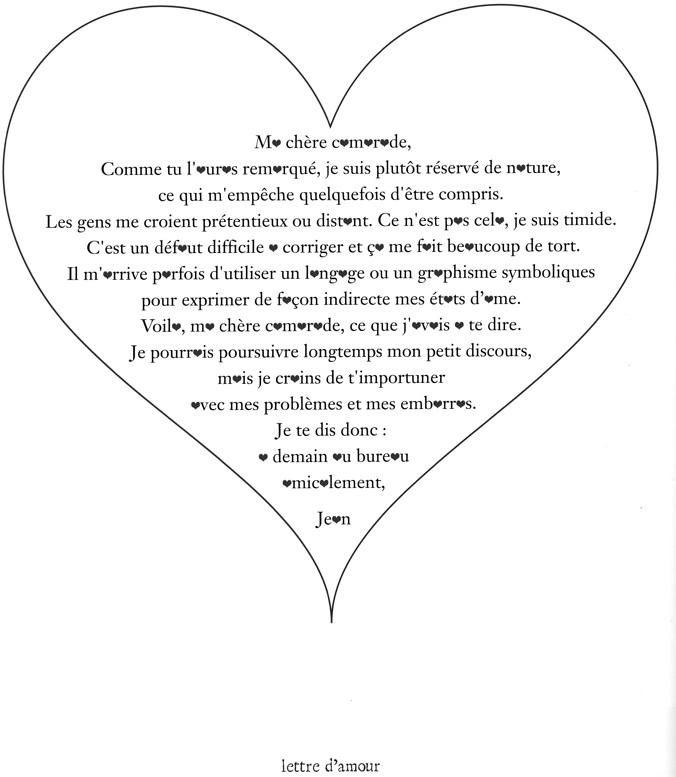 lettre a son amoureux