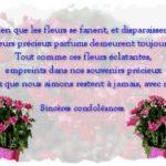 Présenter condoléances
