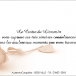 Carte condoléances simple
