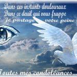 Condoléances pour un ami