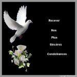 Nos sincères condoléances pour