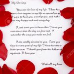 Lettre amoureux romantique