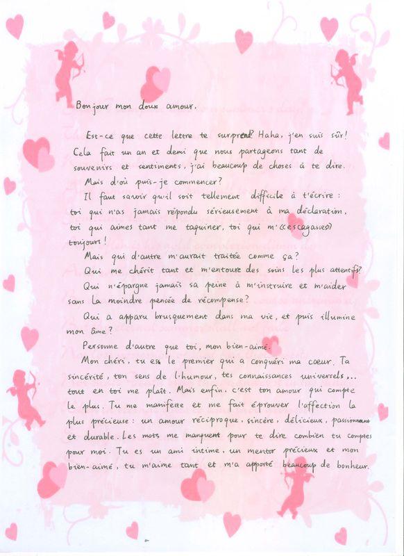 lettre d amour pour elle simple