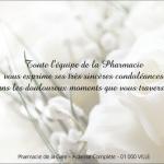 Carte deces condoleance