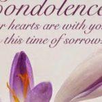 Condolence messages francais