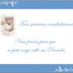 Mot de condoléances simple