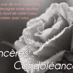 Mot pour condoléances pour ami