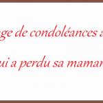Message de condoleance collegue