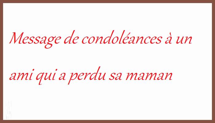 Lettre de condoléances pour un ami   Modèle de lettre