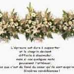 Présentation des condoléances