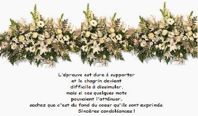pr u00e9sentation des condol u00e9ances