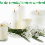 Texte simple condoléances