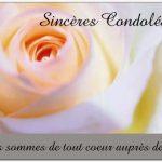 Mot de sincere condoleance