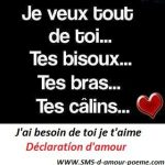 Message declaration d amour