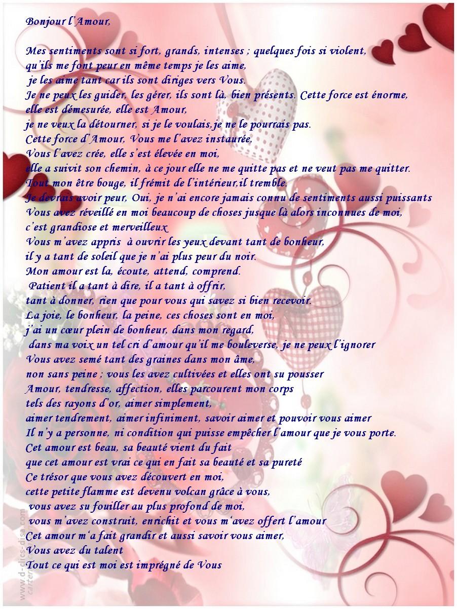 Modele Lettre D Amour Pour Lui Modele De Lettre