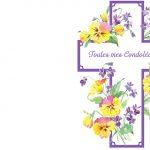 Carte condoléances famille