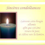 Carte de condoléances avec texte