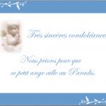 Mot carte condoléances