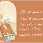 Formule sincères condoléances