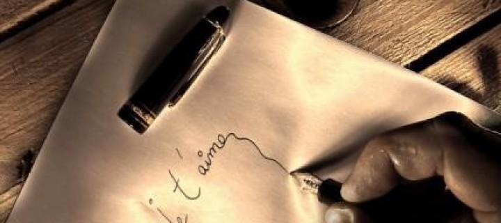 Ecrire lettre d amour