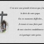 Textes deuil condoléances