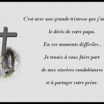 Mot pour carte de condoléances