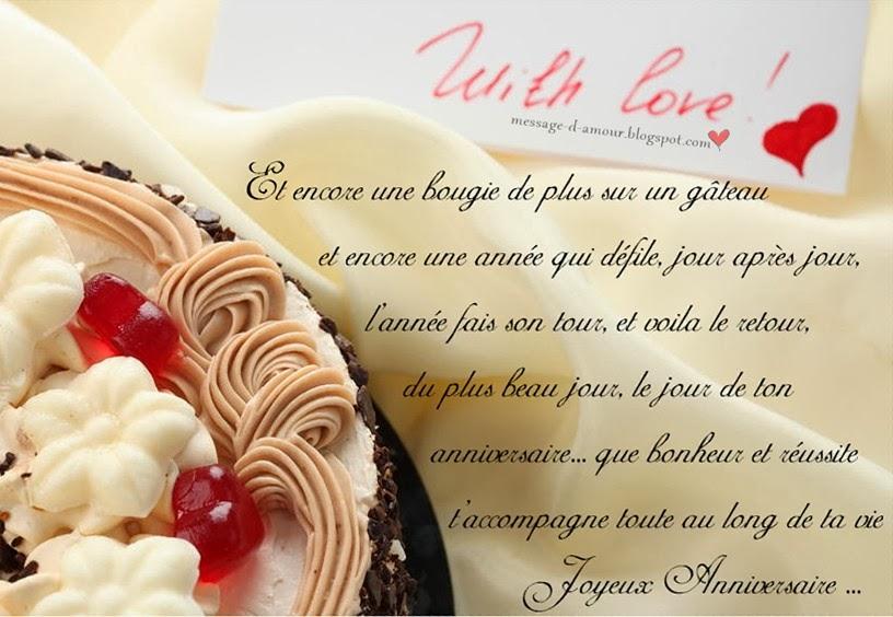 Lettre d amour pour anniversaire - Modèle de lettre