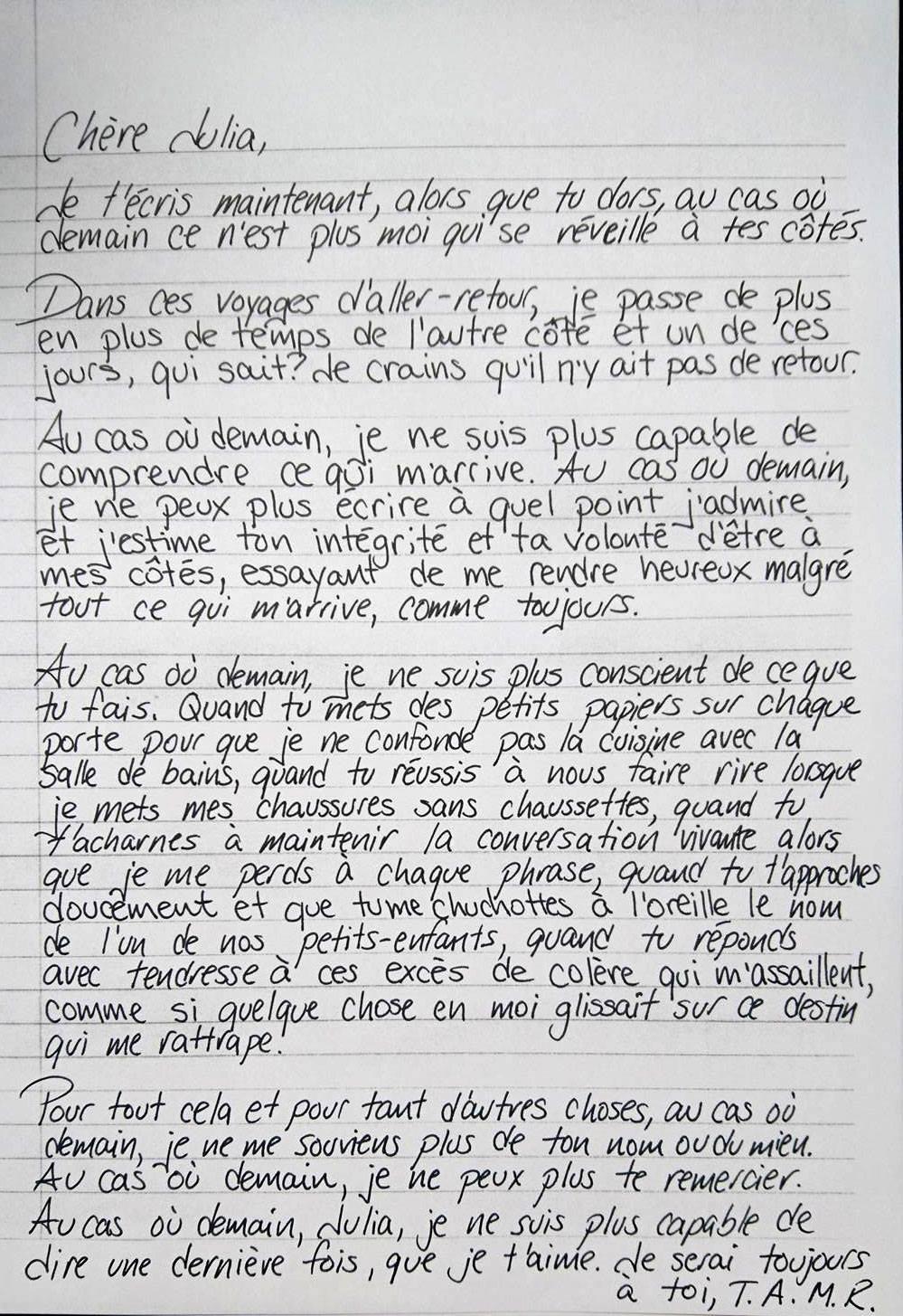 la plus belle lettre d amour