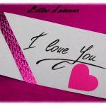 Lettre d amour 1 an