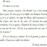 Une lettre amour