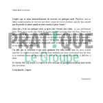 Exemple lettre amour
