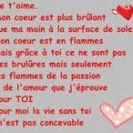 Lettre romantique d amour