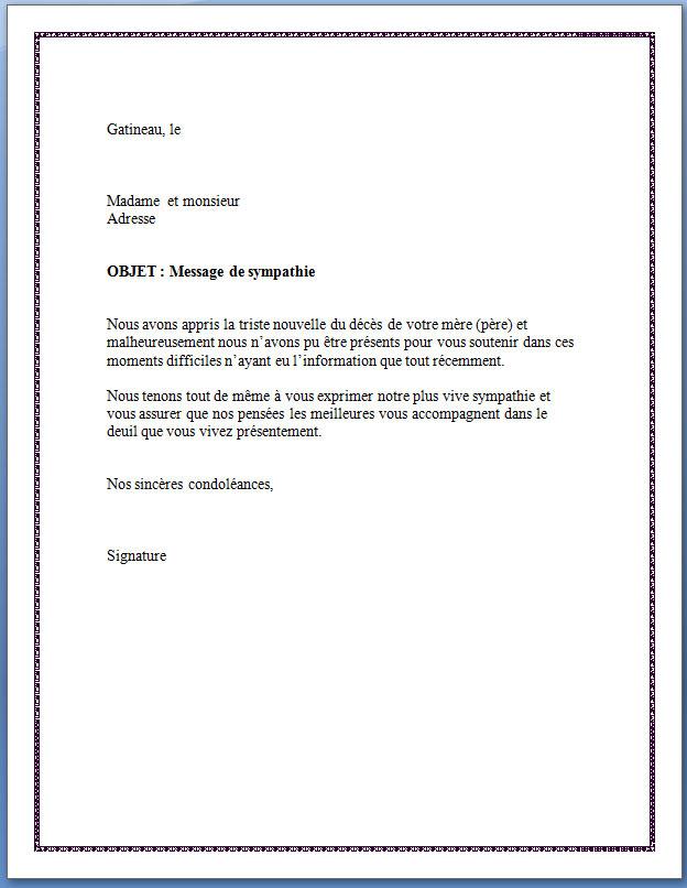 lettre de condol u00e9ances pour d u00e9c u00e8s d un coll u00e8gue
